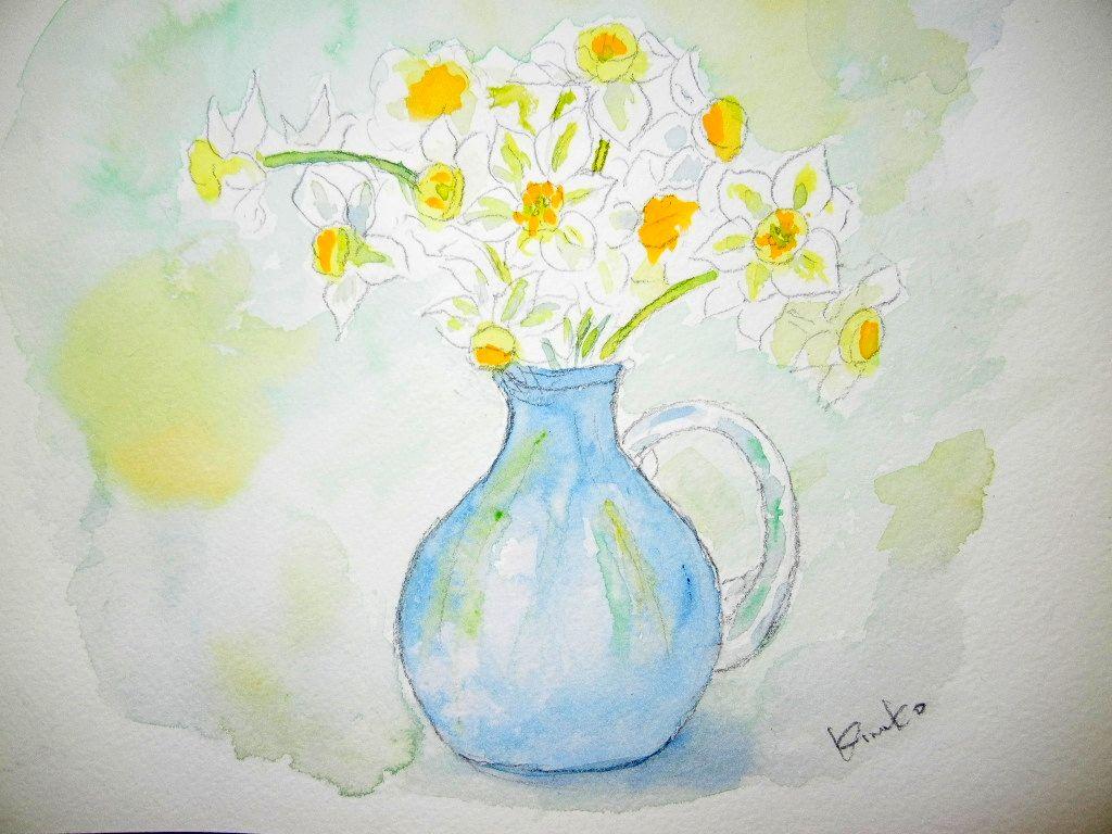 2012年2月6日(月)水仙の絵を描いたよ~!_f0060461_13271287.jpg