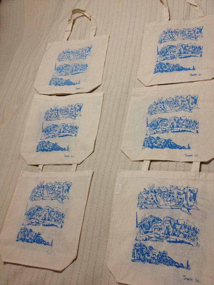 <ものづくりリポート2012vol.1>手づくりプリント:微生物トートバックが出来上がりました! _d0158942_224766.jpg