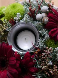 クリスマスキャンドルアレンジメント_b0142989_17531077.jpg