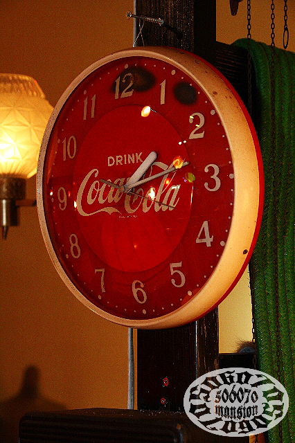 1970s コカコーラ 電池時計 Coca Cola_e0243096_10491155.jpg