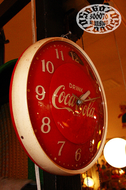 1970s コカコーラ 電池時計 Coca Cola_e0243096_10493456.jpg