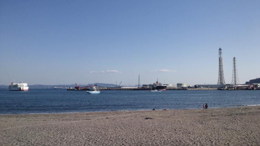 今日の久里浜海岸付近の絵_d0092901_2273139.jpg