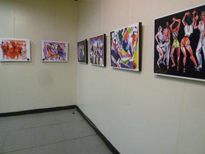 驚!これが彼のアメリカ初の展覧会だとは、、、NYハーレム 松尾公子_f0009746_1212399.jpg
