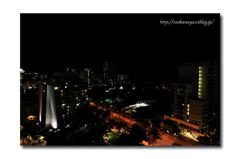 さかなや家族 旅行 in Hawaii 〜 2日目 夜 〜 Hotel からの 夜景_d0069838_8481738.jpg