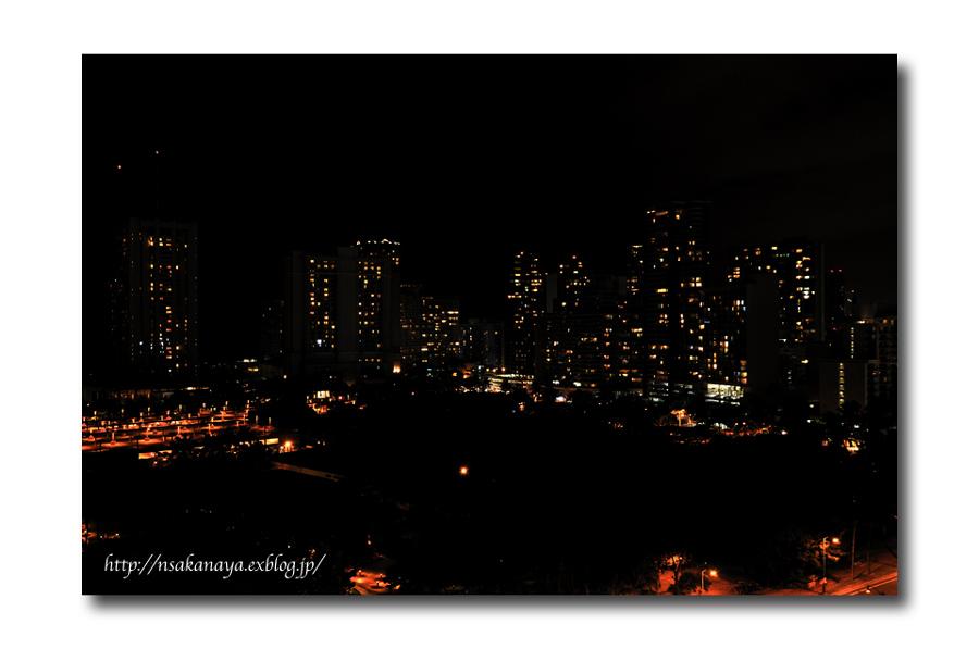 さかなや家族 旅行 in Hawaii 〜 2日目 夜 〜 Hotel からの 夜景_d0069838_8585285.jpg