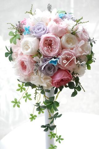 ホワイトピンク系オールドローズブーケ_a0136507_19502298.jpg