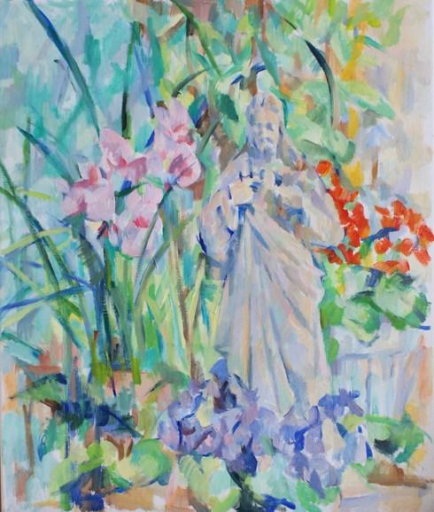 花とキリスト(第三段階)_c0236929_2323279.jpg