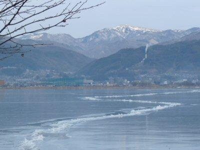 冬の諏訪湖一周ウォーク_f0019247_23412097.jpg