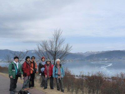 冬の諏訪湖一周ウォーク_f0019247_23433346.jpg