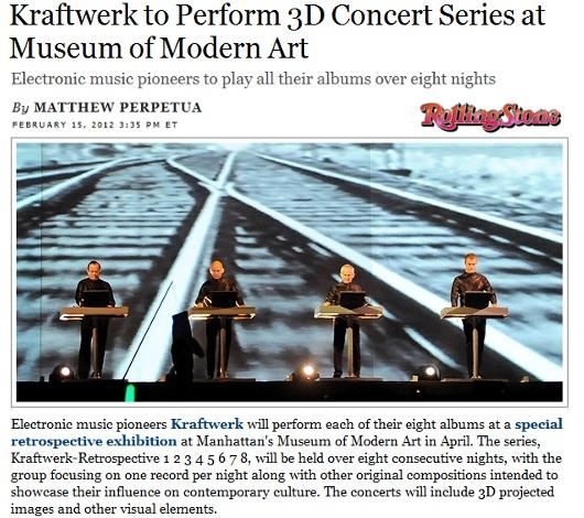 ニューヨーク近代美術館で電子音楽バンドのクラフトワーク(Kraftwerk)が8夜連続ライブ開催へ_b0007805_921970.jpg