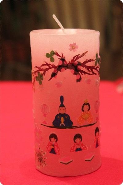 雛祭りキャンドル(^^♪_a0213806_15162696.jpg