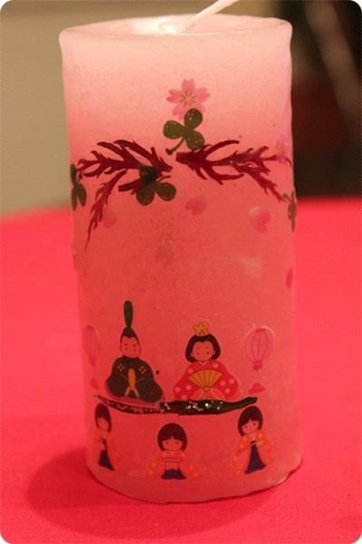 雛祭りキャンドル(^^♪_a0213806_15164631.jpg