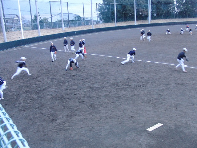 富士市立高校野球部の冬の練習風景_f0141310_757699.jpg
