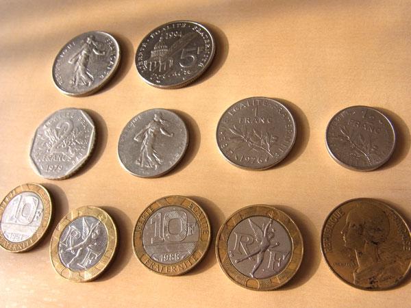 今日でフランスフラン紙幣両替終...