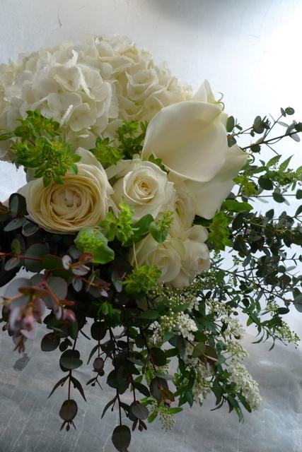 白の花束 お誕生日_b0171193_2381728.jpg