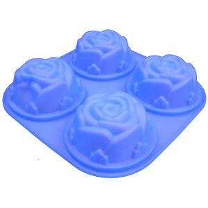 型抜けバツグン!薔薇の形のケーキが一度に4個♪【送料無料・即納OK!】マトファー シリコンケ...