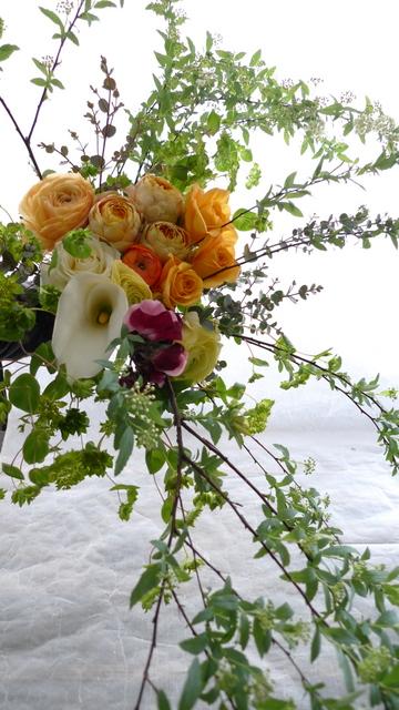 米寿 黄色・オレンジ系花束。_b0171193_20372218.jpg