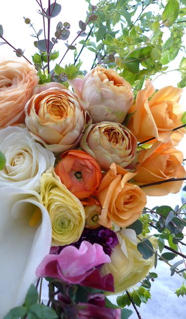 米寿 黄色・オレンジ系花束。_b0171193_20372852.jpg