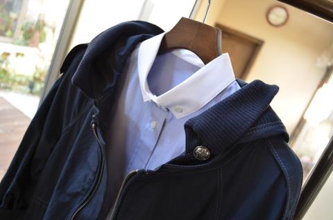 """""""ボタンダウンのクレリックシャツに羽織ってみた""""_d0153941_131411100.jpg"""