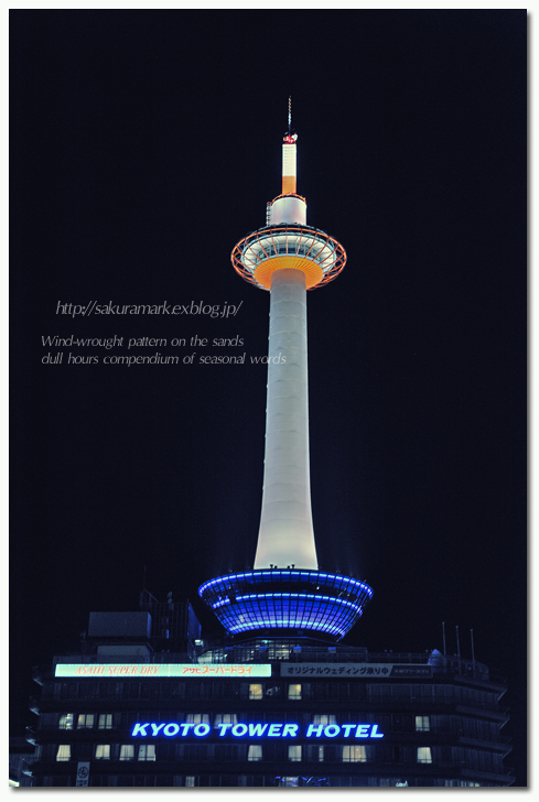 2012 Kyoto snap winter ~Night Kyoto Tower~_f0235723_20105282.jpg