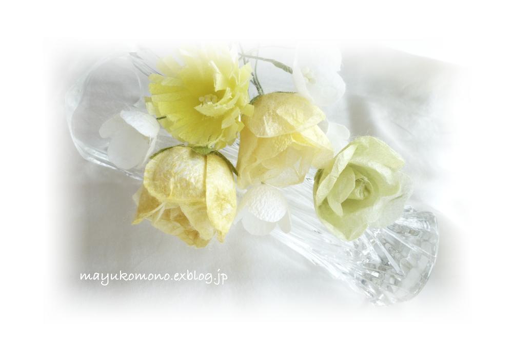 春のバラ(繭クラフト)_c0229422_1632914.jpg