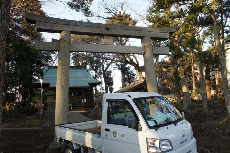 千駄堀・香取神社 鳥居新築工事  2012.2.21_e0223769_19392428.jpg