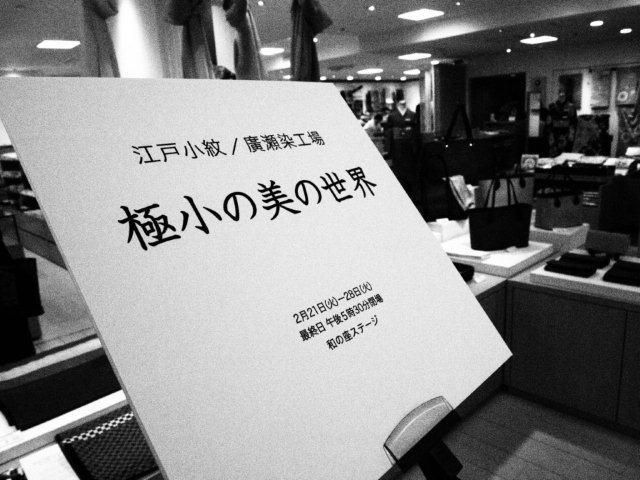 2月21日 松屋銀座 染め実演_d0171384_1183148.jpg