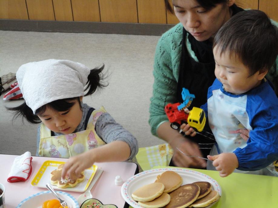 食育講座『ホットケーキ食べよっ♪』:2月24日金曜日_b0079382_141359.jpg