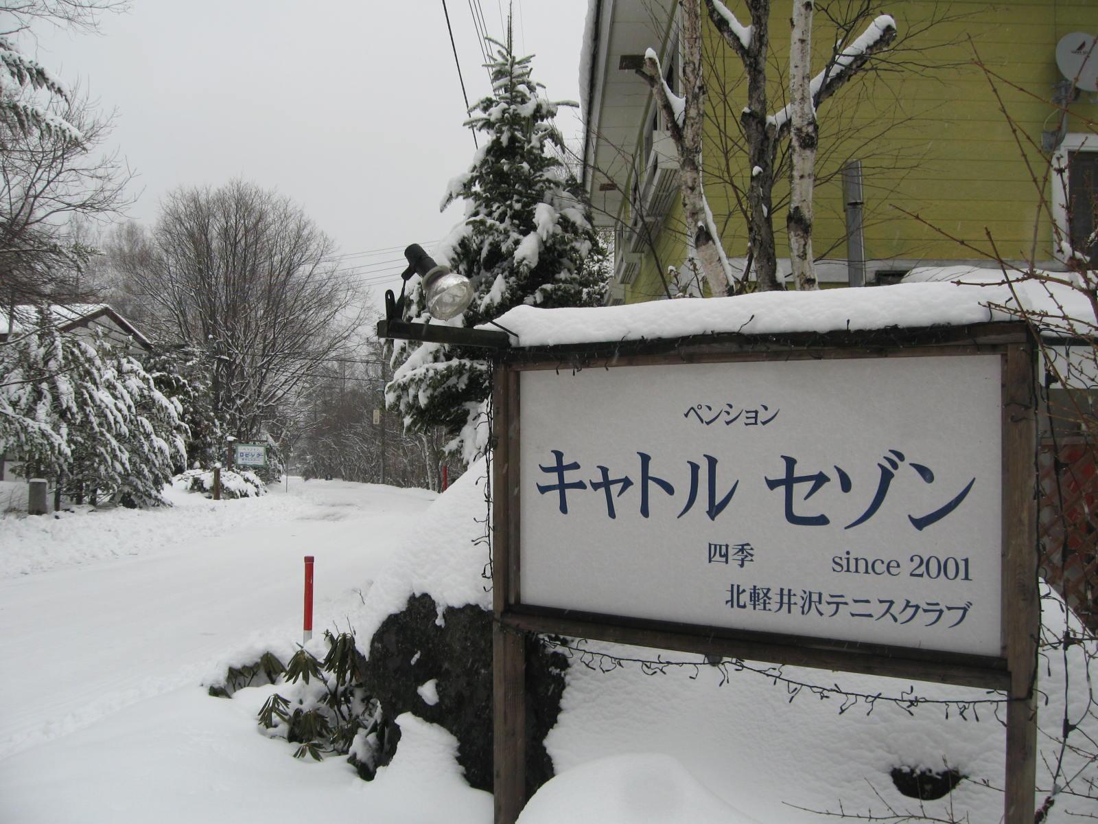 今シーズン一番の雪_f0146620_15363722.jpg