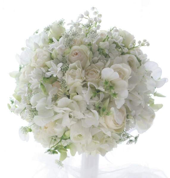 ラウンドブーケ 春の小花で 椿山荘様へ_a0042928_13275557.jpg