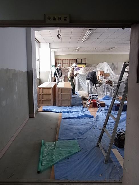 愛媛県立松山南高等学校の改修工事_b0186200_20512267.jpg