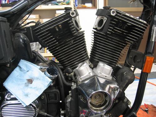 EVOエンジン組み付け _a0257316_19184531.jpg