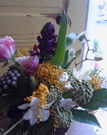 かわいい芸術家・春の花あしらい。。。_a0229658_1703836.jpg
