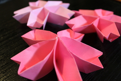 クリスマス 折り紙 折り紙 桜 : romiloco.exblog.jp