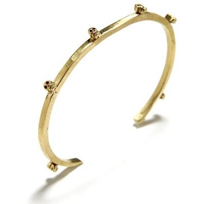 Bing Bang Jewelry Tiny Skull Cuff Brass_f0111683_12591087.jpg