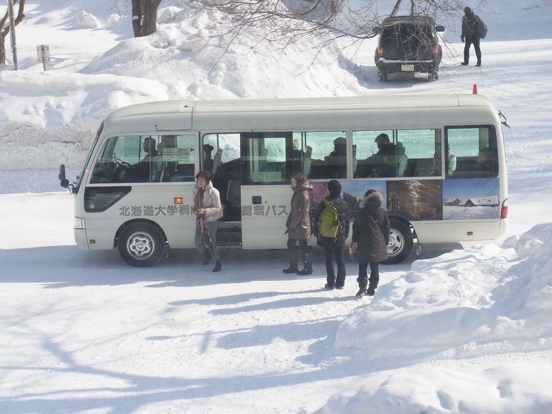 構内循環バスと送別会_c0025115_19502432.jpg