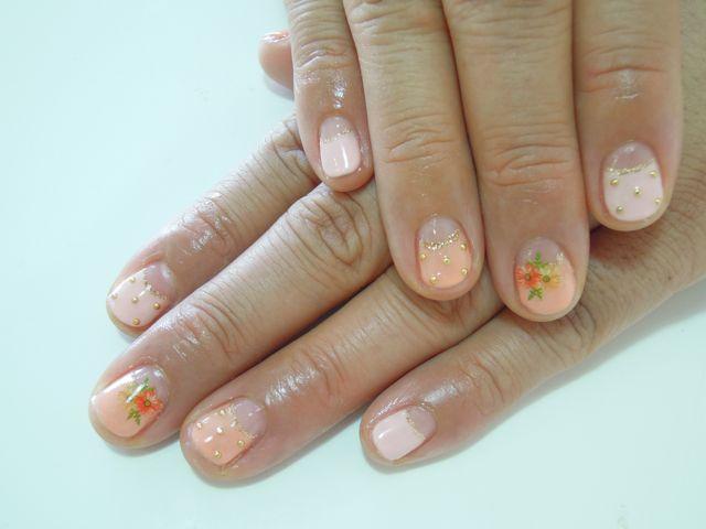 Flower×Dots Nail_a0239065_17594469.jpg