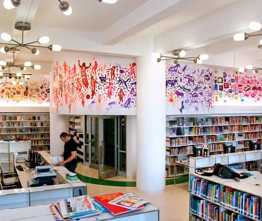 ニューヨークにはこんな楽しそうな公立小学校の図書館も_b0007805_23554839.jpg