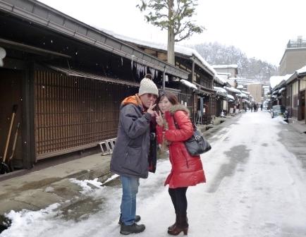 雪の高山、白川郷、金沢の旅 (1...