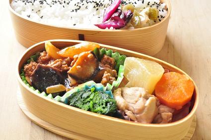 茄子挽き肉炒めのお弁当_b0171098_8205468.jpg