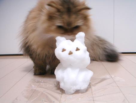 「モヘアと雪だるま」_e0157129_18113825.jpg