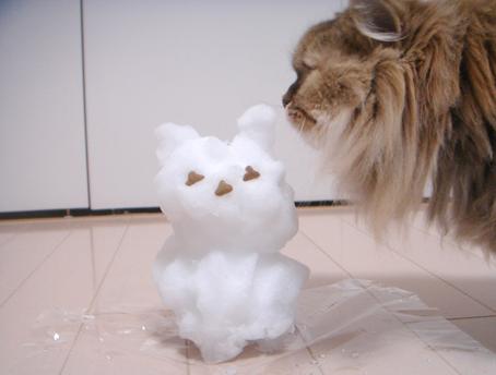 「モヘアと雪だるま」_e0157129_1811612.jpg