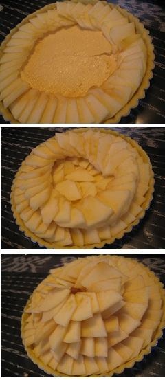 ①食べられるケーキ作り♪ りんごのタルト_b0187479_11151686.jpg