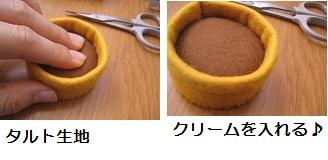 ①食べられるケーキ作り♪ りんごのタルト_b0187479_1184631.jpg
