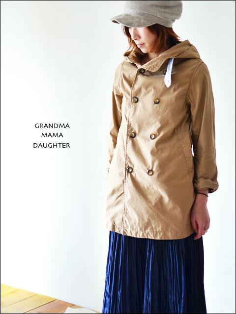 GRANDMA MAMA DAUGHTER [グランマ・ママ・ドーター] フードトレンチコート [GJ210111] LADY\'S _f0051306_18543768.jpg