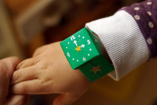 クリスマス 折り紙 折り紙 腕時計 : divulgando.net