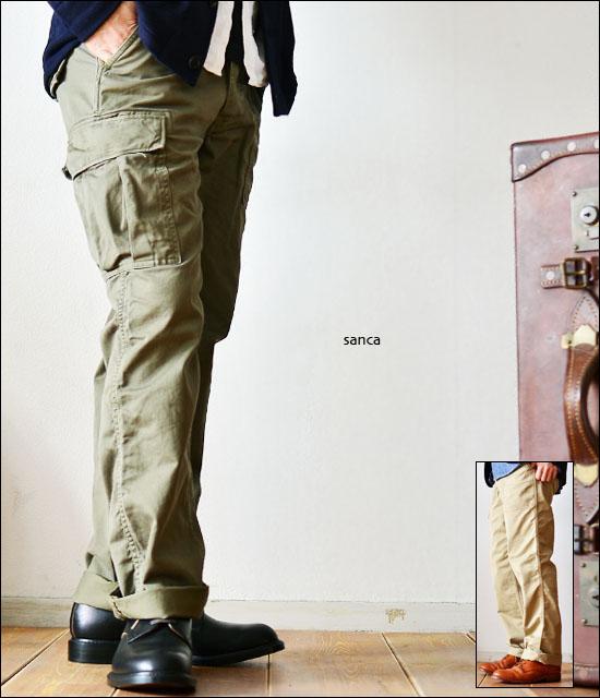 Sanca [サンカ] SATIN COMB MILITARY PANTS [サテンコンビ ミリタリーパンツ] [S12SPT09] MEN\'S_f0051306_16351052.jpg