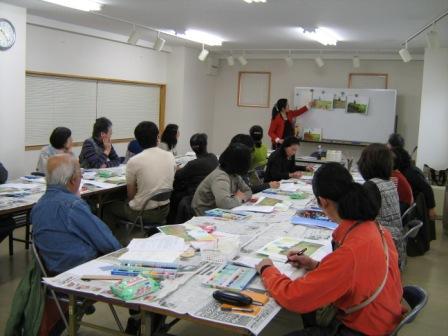 アムス一日教室「クレパス画講座」が行われました_f0238969_1841984.jpg