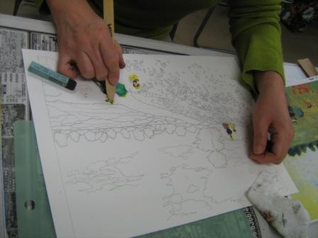 アムス一日教室「クレパス画講座」が行われました_f0238969_1844476.jpg