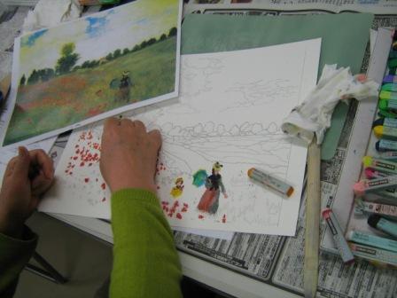 アムス一日教室「クレパス画講座」が行われました_f0238969_185247.jpg